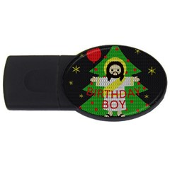 Jesus   Christmas Usb Flash Drive Oval (2 Gb)