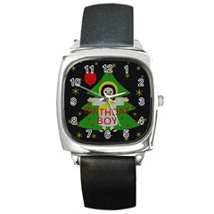 Jesus   Christmas Square Metal Watch