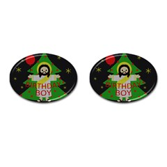 Jesus   Christmas Cufflinks (oval)