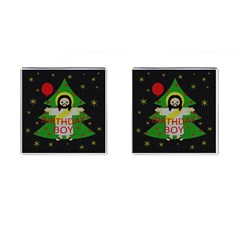 Jesus   Christmas Cufflinks (square)