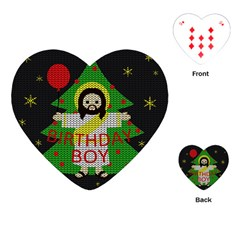 Jesus   Christmas Playing Cards (heart)