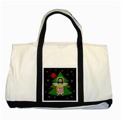 Jesus   Christmas Two Tone Tote Bag