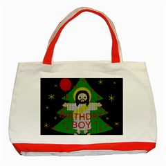 Jesus   Christmas Classic Tote Bag (red)