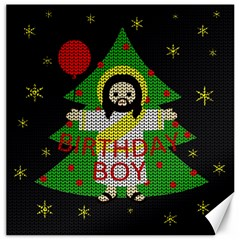 Jesus   Christmas Canvas 12  X 12