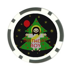 Jesus   Christmas Poker Chip Card Guard