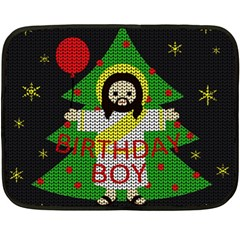 Jesus   Christmas Fleece Blanket (mini)