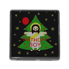 Jesus   Christmas Memory Card Reader (square)