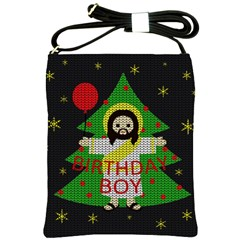 Jesus   Christmas Shoulder Sling Bags