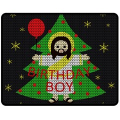 Jesus   Christmas Fleece Blanket (medium)
