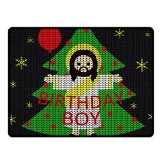 Jesus   Christmas Fleece Blanket (small)