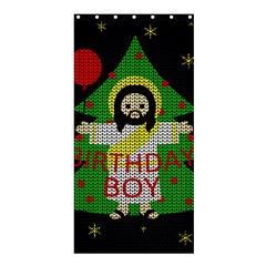Jesus   Christmas Shower Curtain 36  X 72  (stall)