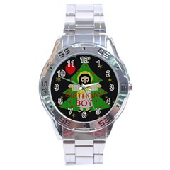 Jesus   Christmas Stainless Steel Analogue Watch