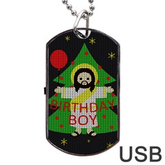 Jesus   Christmas Dog Tag Usb Flash (two Sides)