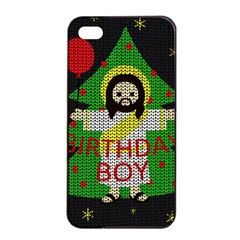 Jesus   Christmas Apple Iphone 4/4s Seamless Case (black)