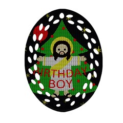 Jesus   Christmas Ornament (oval Filigree)