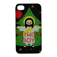 Jesus   Christmas Apple Iphone 4/4s Hardshell Case With Stand