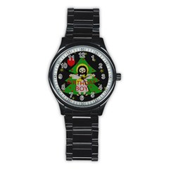 Jesus   Christmas Stainless Steel Round Watch