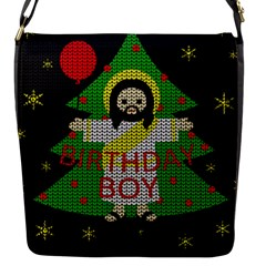 Jesus   Christmas Flap Messenger Bag (s)