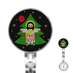 Jesus   Christmas Stainless Steel Nurses Watch