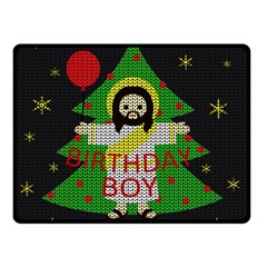 Jesus   Christmas Double Sided Fleece Blanket (small)