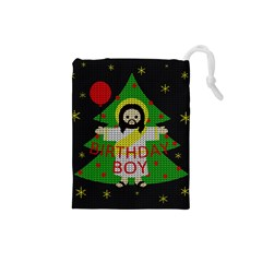 Jesus   Christmas Drawstring Pouches (small)