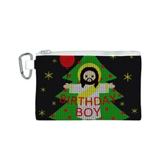 Jesus   Christmas Canvas Cosmetic Bag (s)