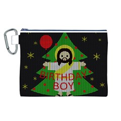 Jesus   Christmas Canvas Cosmetic Bag (l)