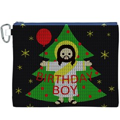 Jesus   Christmas Canvas Cosmetic Bag (xxxl)