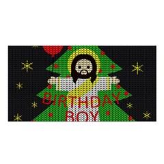 Jesus   Christmas Satin Shawl