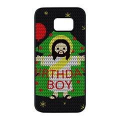 Jesus   Christmas Samsung Galaxy S7 Edge Black Seamless Case