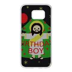 Jesus   Christmas Samsung Galaxy S7 Edge White Seamless Case
