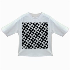 Houndstooth2 Black Marble & White Leather Infant/toddler T Shirts