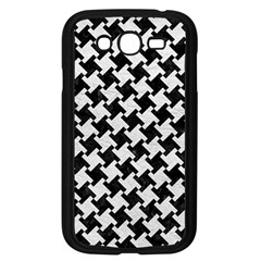 Houndstooth2 Black Marble & White Leather Samsung Galaxy Grand Duos I9082 Case (black)