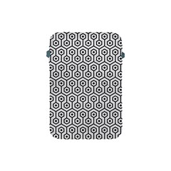 Hexagon1 Black Marble & White Leather Apple Ipad Mini Protective Soft Cases