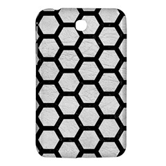 Hexagon2 Black Marble & White Leather Samsung Galaxy Tab 3 (7 ) P3200 Hardshell Case