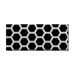 Hexagon2 Black Marble & White Leather (r) Cosmetic Storage Cases