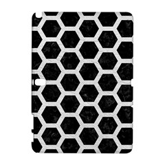 Hexagon2 Black Marble & White Leather (r) Galaxy Note 1