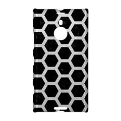 Hexagon2 Black Marble & White Leather (r) Nokia Lumia 1520