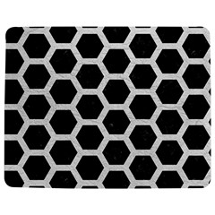 Hexagon2 Black Marble & White Leather (r) Jigsaw Puzzle Photo Stand (rectangular)
