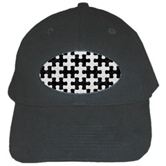 Puzzle1 Black Marble & White Leather Black Cap