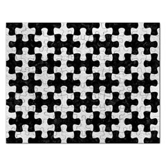 Puzzle1 Black Marble & White Leather Rectangular Jigsaw Puzzl