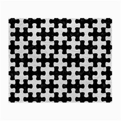 Puzzle1 Black Marble & White Leather Small Glasses Cloth (2 Side)