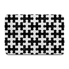 Puzzle1 Black Marble & White Leather Plate Mats