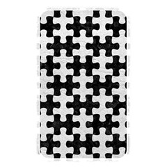 Puzzle1 Black Marble & White Leather Memory Card Reader