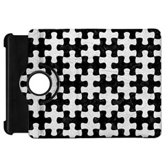 Puzzle1 Black Marble & White Leather Kindle Fire Hd 7