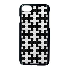 Puzzle1 Black Marble & White Leather Apple Iphone 8 Seamless Case (black)