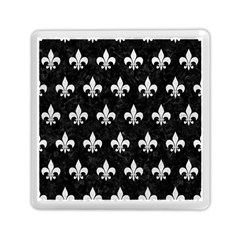 Royal1 Black Marble & White Leather Memory Card Reader (square)