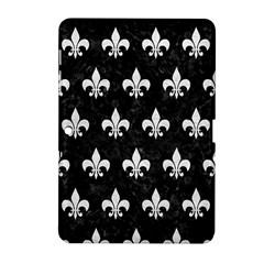Royal1 Black Marble & White Leather Samsung Galaxy Tab 2 (10 1 ) P5100 Hardshell Case