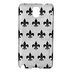 Royal1 Black Marble & White Leather (r) Samsung Galaxy Note 3 N9005 Hardshell Case