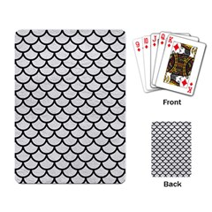 Scales1 Black Marble & White Leather Playing Card